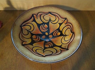 Vintage Poole Art Pottery Aegean Bowl Charger - Shape 58 -13.5 Inch