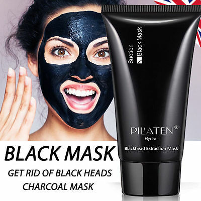 Black Mask Blackhead Remover Deep Cleansing Pore Face Peel Off Mask Pilaten 60g