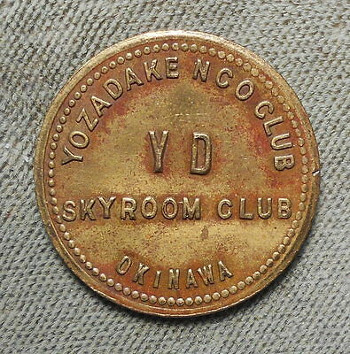 Military: Okinawa Yozadake NCO Club Skyroom Club YD GF 5c IM Denom Not Listed