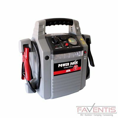 APA Power Pack Starthilfe 900/1500A 12/24V Powerstation Ladestation Profi Power