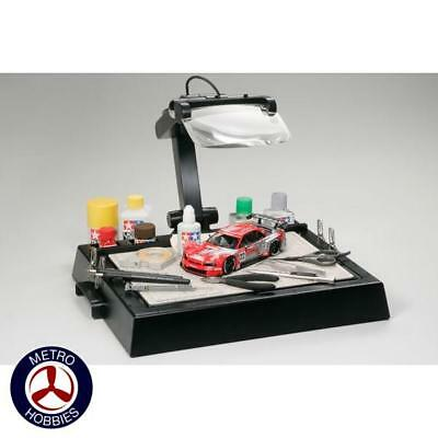 Tamiya Work Bench with Magnifier T74064 Brand New
