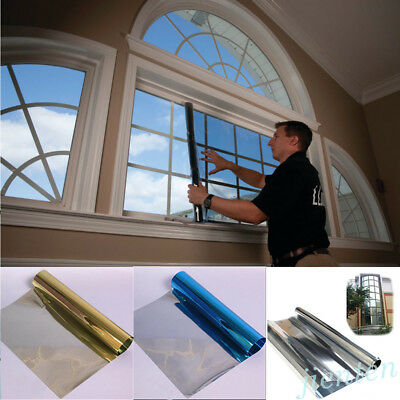 Anti-UV Mirror Solar Reflective Window Glass Tint Film One Way Membrane Home Car