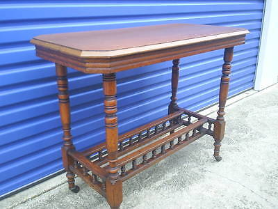 Finely Detailed Edwardian Hall Table. Side Table. Sofa Table.