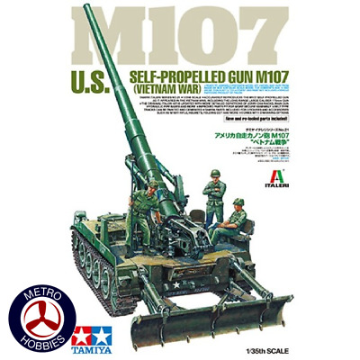 Tamiya 1/35 US M107 Self-Propelled Gun Vietnam War T37021 Brand New