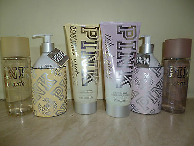 Victoria's Secret PINK New Coconut Waters & Island Glow mist/lotion + 2in1 scrub