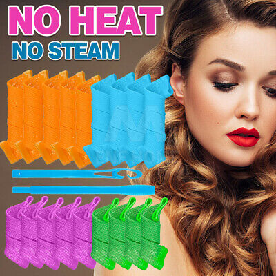 18Pcs Magic Hair Curler DIY Leverage Curlers Formers Spiral Styling Rollers