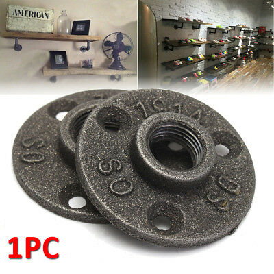 1/2'' 3/4'' Malleable Threaded  Iron Pipe Fittings Floor Flange BSP Wall Mount