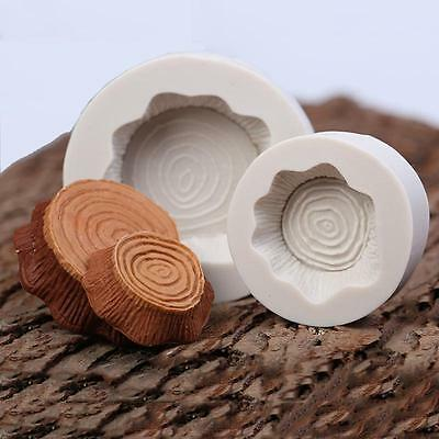 2 pcs/set Forest Tree Stump Silicone Mould for Cake Icing Decoration NEW - FI