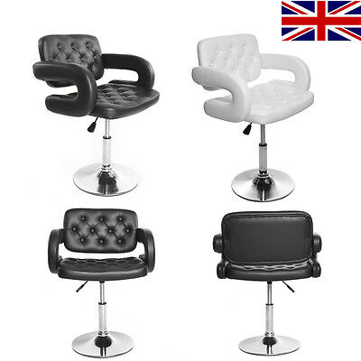 Panana BLACK/WHITE SALON QUILTED LEATHER STYLE BARBER CHAIR BEAUTY HAIRDRESSER