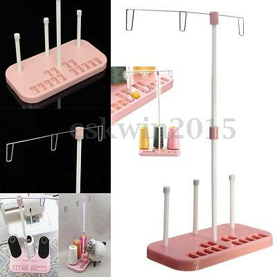 Embroidery Thread 3 Spool Holder Stand Sew Quilting for Home Sewing Machine