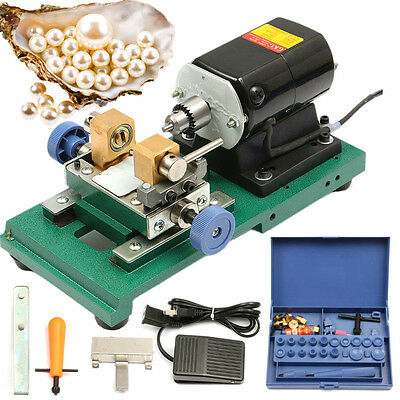 220V 280W Pearl Drilling Holing Machine Driller Holer Full Set Jewelry Tools