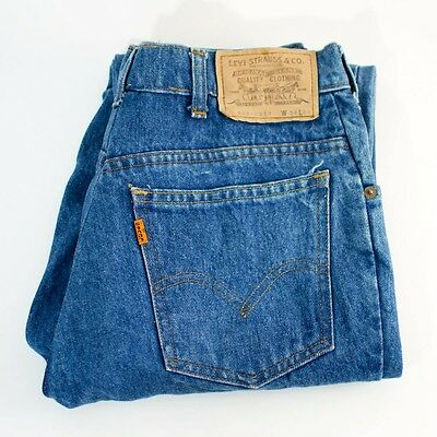 True Vintage Distressed Levi 631 Jeans Straight Leg High Rise Mid Blue W 30 L 29