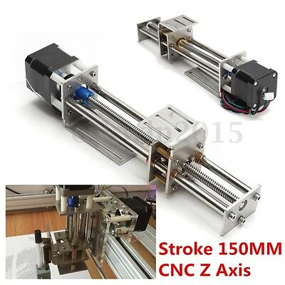 3 Axis 150mm Slide Stroke CNC Z Axis Linear Motion Engraving Machine with Motor