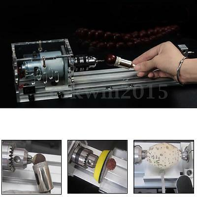 25Pcs Mini Multifunction Lathe Beads Machine Polisher Table Saw w/Power 110/220V