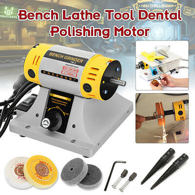 220V Bench Lathe Tool Dental Jewelry Polisher Finisher Polishing Motor Machine