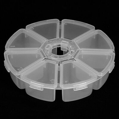 Transparent Empty Storage Container Box Case for Nail Art Tips Rhinestone Gems