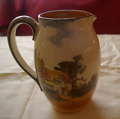 Royal Doulton Jug with Rustic Cottage Scene