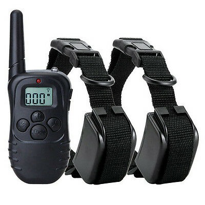 Rechargeable and Waterproof Training Dog Collar 2 Pcs Set