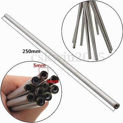 Stainless Seamless Steel Capillary Round Tube Wall OD 5x3mm/3x1mm Length 250mm