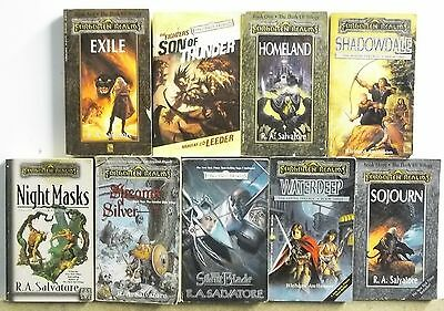 9 books FORGOTTEN REALMS FANTASY SF FUTURE NOVELS lot #A388 Free US S/H