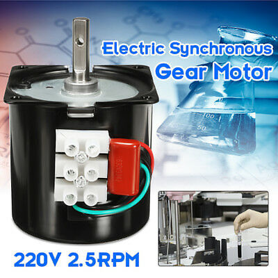 220V 2.5RPM A60KTYZ Gear-Box Electric Synchronous Motor Speed Reducing Torque