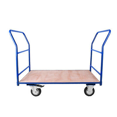Panana Heavy Duty Steel Platform Truck Warehouse Hand Trolley Double Ended Cart