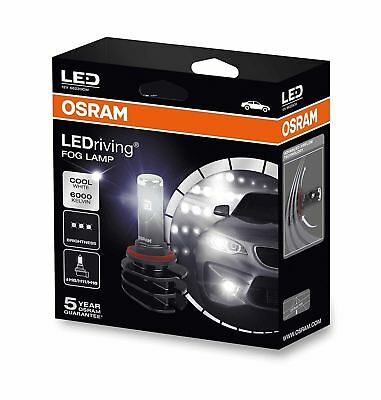 2x OSRAM LED FOG LAMP Bulbs For H8 / H11 / H16 12V PGJ19-X 66220CW DuoBox