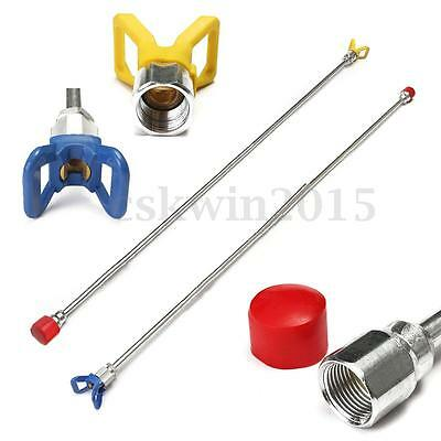 1m Airless Paint Sprayer Spray Gun Tip Extension Pole Rod 100cm For Wagner