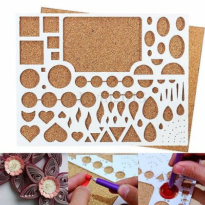 Paper Quilling Template Board Papercraft DIY Tool Scrapbooks 210 x 180 x 8mm