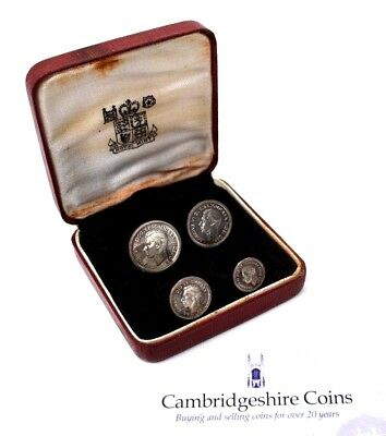 1950 Uncirculated Silver Maundy Money British George VI Coin Set Box