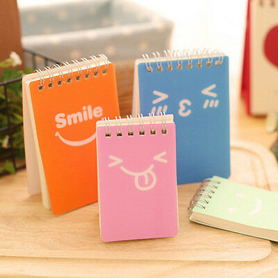 Lovely Diary Notebook Memo Planner Portable Mini Smile Smiley Paper Note Book
