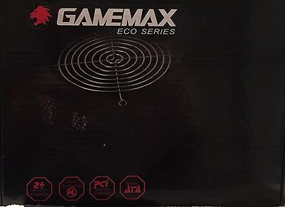 GAMEMAX 600W ATX POWER SUPPLY 12CM FAN 3x SATA & 2x MOLEX + 6 PIN VIDEO