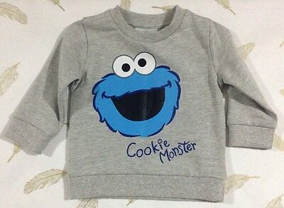 Sesame Street Baby Boys Cookie Monster Jumper 6-12 Months 0