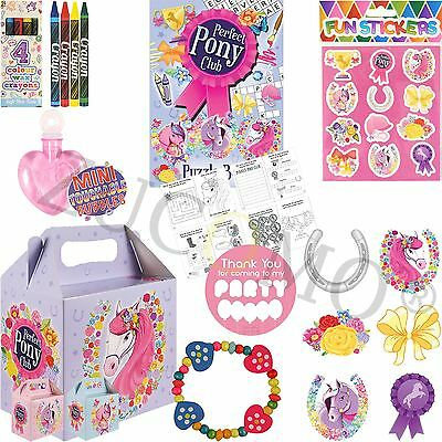 Childrens Pony Pre Filled Party Bags Kids Birthday Gifts Favors