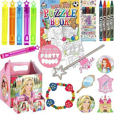 Childrens Princess Pre Filled Party Bags Kids Birthday Gifts Favors