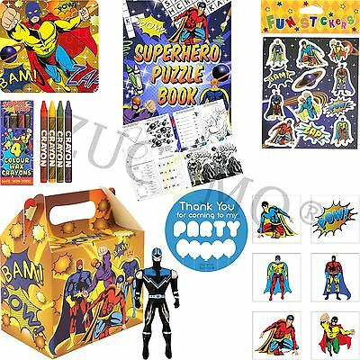 Childrens Superhero Pre Filled Party Bags Kids Birthday Gifts Favors