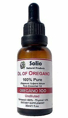 100% Pure Essential Oil of Oregano Oil Carvacrol 86% 1 oz 30ml