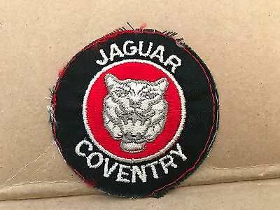 "Vintage 1950/60's Embroidered Jaguar Coventry Jacket Patch 3"" X 3"""