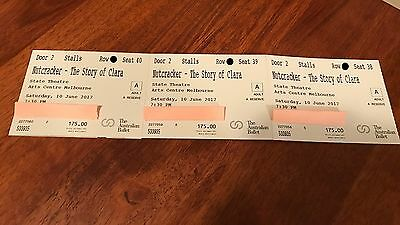 The Australian Ballet Melbourne 3xTickets NUTCRACKER - THE STORY OF CLARA