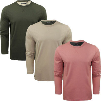 Mens Prague Classic Long Sleeve Cotton Jersey Jumper Top by Brave Soul Size S-XL