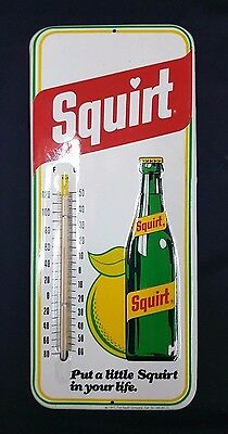 Metal Squirt Put a Little Squirt in Your Life Sign Thermometer