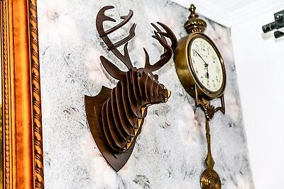 Deer animal trophy head 3D puzzle wood large wall art hanging home decor DIY