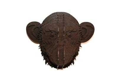 Monkey trophy 3D puzzle large wooden animal head DIY Home Deco jigsaw
