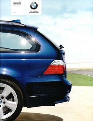 2008 BMW 5 Series Wagon Original sales Brochure MINT