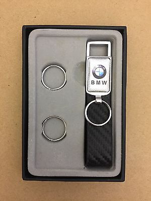 BMW keyring Collectable leather & Steel Key Chain Key ring (D53)