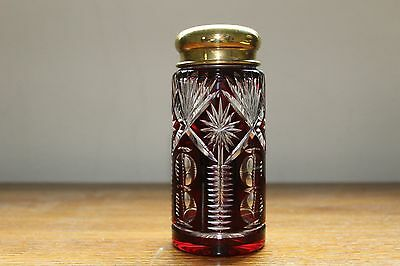 Cranberry cut glass mutineer in perfect condition