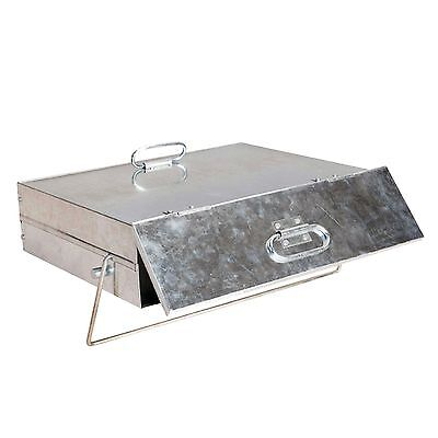 Manor 0569 Fireplace Fireside Ash Carrier Storage Box Galvanised