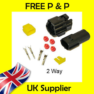 2 Way Male + Female Econoseal AMP Waterproof Wiring Electrical Multi Connector