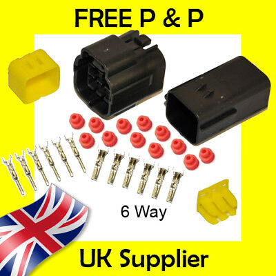 6 Way Male + Female Econoseal AMP Waterproof Wiring Electrical Multi Connector