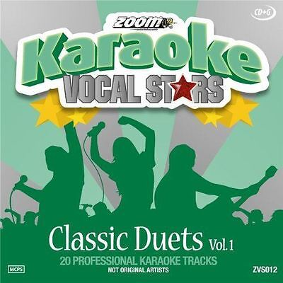 Zoom Karaoke CD+G Classic Duets 1 Vocal Stars Series New Sealed